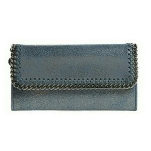 Stella McCartney Shaggy Deer Faux Leather Wallet